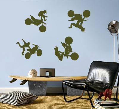 Motocross - Army Green--Wall Decal