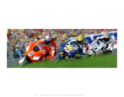 Motocycling-Ron Fisher-Art Print