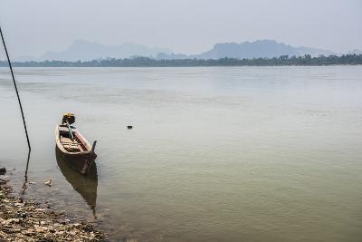 Motor Boat on Salween River (Thanlwin River), Hpa An, Karen State (Kayin State)-Matthew Williams-Ellis-Photographic Print