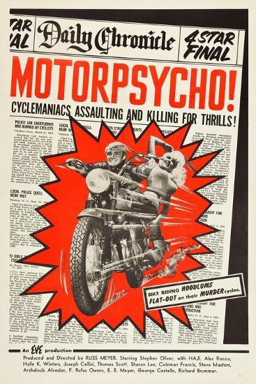 MOTOR PSYCHO, 1965--Art Print