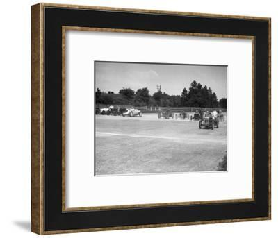 Motor racing at Brooklands-Bill Brunell-Framed Photographic Print