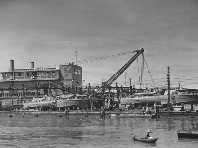 Motor Torpedo Boats of the Philippine Army Offshore Patrol Being Readied for Training Maneuvers--Photographic Print