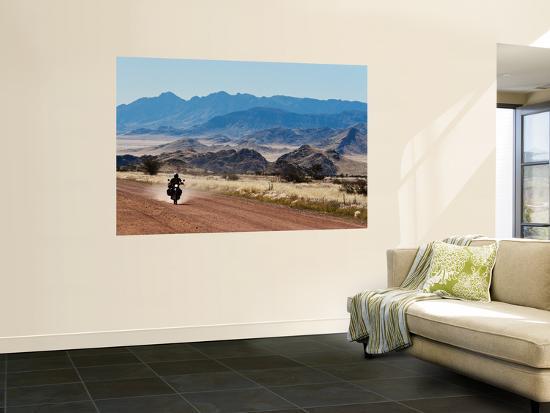 Motorbike Riding Through the Tarisberg Range-Todd Lawson-Wall Mural