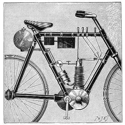 Motorcycle, 1895--Giclee Print