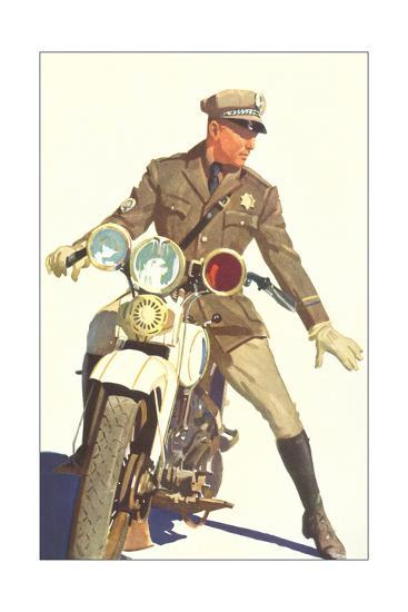Motorcycle Cop--Giclee Print