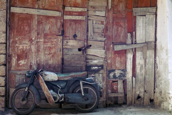Motorcycle in the street in Khania-Unknown-Photographic Print