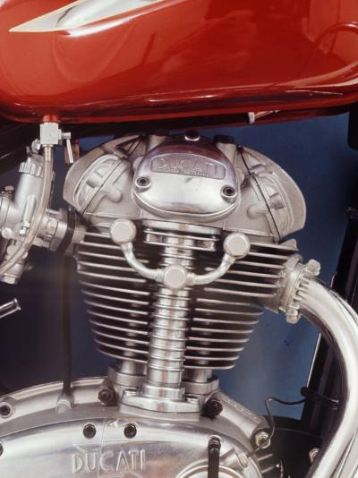 Motorcycles: Closeup of a Ducati Engine-Yale Joel-Photographic Print