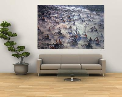 Motorcyclists Racing 75 Miles Cross Country Through Mojave Desert-Bill Eppridge-Wall Mural