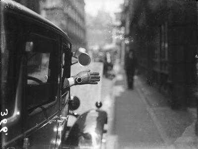 Motoring Hand Signal--Photographic Print