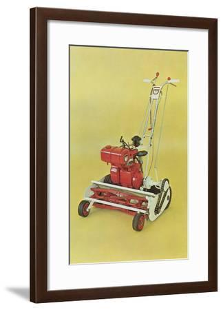 Motorized Lawnmower--Framed Art Print