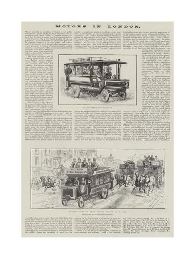 Motors in London--Giclee Print
