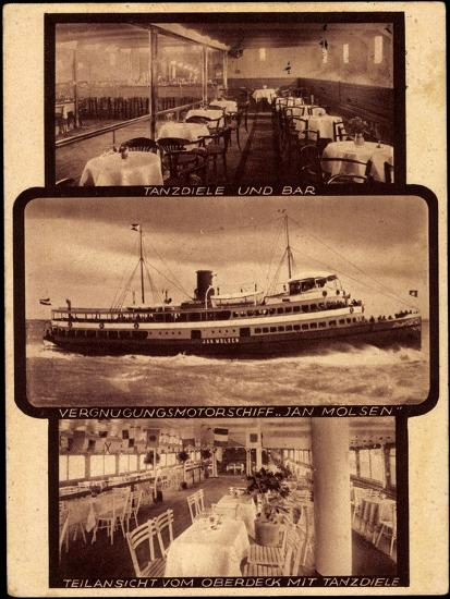 Motorschiff Jan Molsen, Tanzdiele, Bar, Oberdeck--Giclee Print