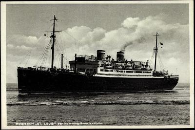 Motorschiff St Louis, Hapag, Dampfschiff in Fahrt--Giclee Print