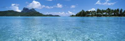 Motu and Lagoon, Bora Bora, Society Islands, French Polynesia--Photographic Print