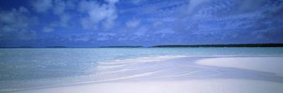 Motus and Lagoon Viewed from a Sandbar, Aitutaki, Cook Islands