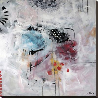 Motus Et Bleuets-Annie Rodrigue-Stretched Canvas Print