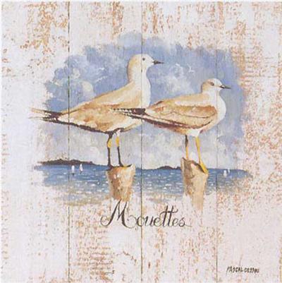 Mouettes-Pascal Cessou-Art Print