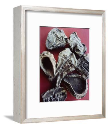 Mould and crucibles for making pendants, tools etc-Werner Forman-Framed Giclee Print