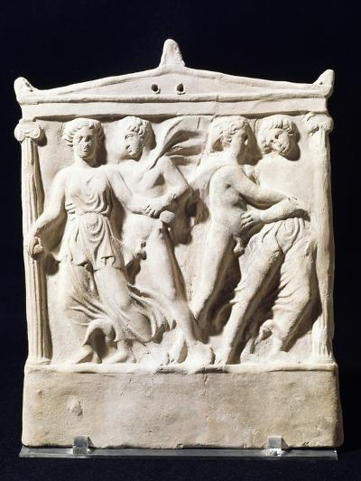 Moulded Aedicula in Terracotta with Abduction Scene, 5th-4th Century BC--Giclee Print