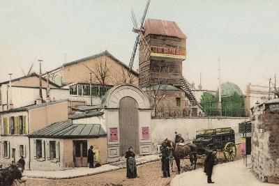 Moulin De La Galette, Montmartre, 1900--Photographic Print