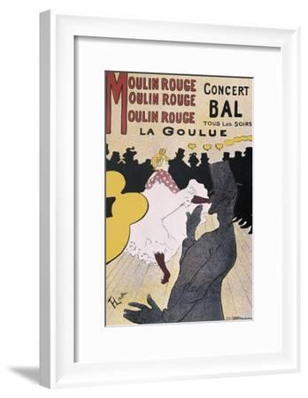 Moulin Rouge: La Goulue-Henri de Toulouse-Lautrec-Framed Art Print