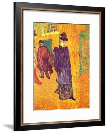 Moulin Rouge, Paris-Henri de Toulouse-Lautrec-Framed Art Print