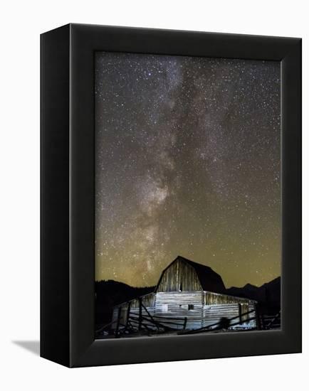 Moulton Barn and Milky Way Galaxy-Mike Cavaroc-Framed Premier Image Canvas