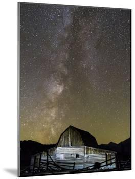 Moulton Barn and Milky Way Galaxy-Mike Cavaroc-Mounted Photographic Print