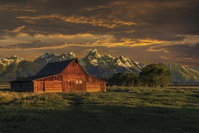 Moulton Barn Sunrise-Galloimages Online-Photographic Print