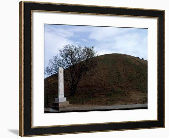 Mound Containing Ashes of 192 Athenian Soldiers Killed in Battle of Marathon--Framed Giclee Print