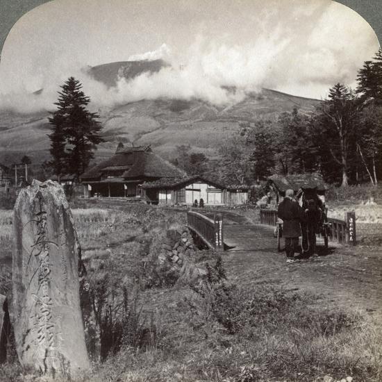 Mount Asama (Asamayam), Japan's Largest Active Volcano, Northwest from Katsukake, 1904-Underwood & Underwood-Photographic Print