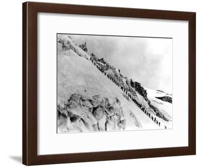 Mount Baker Ascent, 1908-Asahel Curtis-Framed Giclee Print