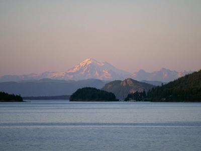 Mount Baker from San Juan Islands, Washington State, USA-Rob Cousins-Photographic Print