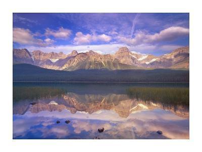 Mount Chephren reflected in Waterfowl Lake, Banff National Park, Alberta, Canada-Tim Fitzharris-Art Print