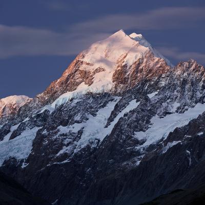 Mount Cook, Aoraki, Mount Cook National Park, Canterbury, South Island, New Zealand-Rainer Mirau-Photographic Print
