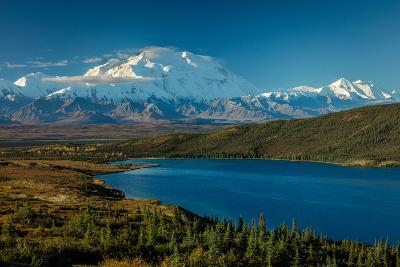 Mount Denali, previously known as McKinley from Wonder Lake, Denali National Park, Alaska--Photographic Print