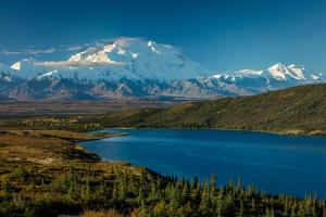 Mount Denali, previously known as McKinley from Wonder Lake, Denali National Park, Alaska