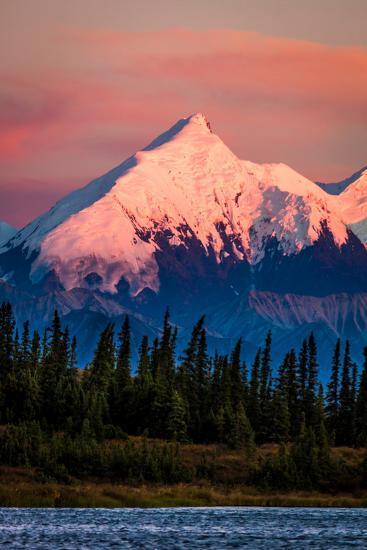 Mount Denali, previously known as McKinley from Wonder Lake, Denali National Park, Alaska--Photographic Print