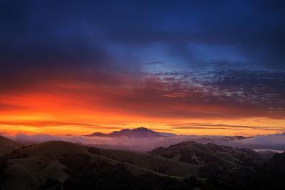 Mount Diablo Sunrise magic, East bay Hills, San Francisco-Vincent James-Photographic Print