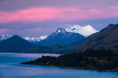 Mount Earnslaw, New Zealand's Southern Alps Against Early Evening Sky Beyond Lake Wakatipu-Garry Ridsdale-Photographic Print