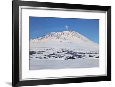 Mount Erebus, Antarctica. Panoramic Composite-Janet Muir-Framed Photographic Print