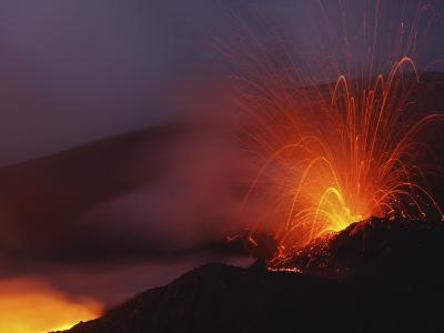 Mount Etna Eruption, Sicily, Italy--Photographic Print