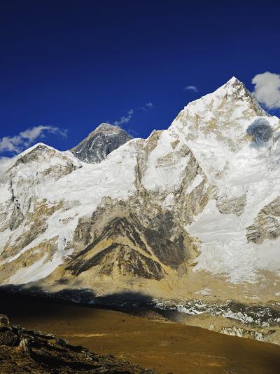 Mount Everest and Nuptse from Kala Patthar, Sagarmatha Natl Park, UNESCO World Heritage Site, Nepal-Jochen Schlenker-Photographic Print