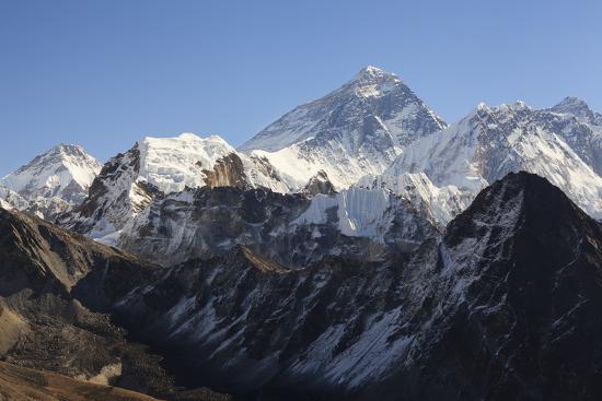 Mount Everest From Gokyo Ri. Sagarmatha National Park. Solukhumbu District. Nepal-Oscar Dominguez-Photographic Print