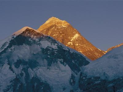 Mount Everest is Seen in the Evening Light-Bobby Model-Photographic Print
