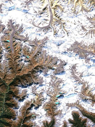 Mount Everest, Satellite Image-PLANETOBSERVER-Photographic Print