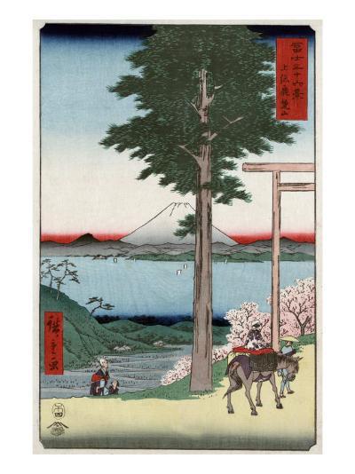 Mount Fuji across Yedo Bay Seen from Rokusozan, Japanese Wood-Cut Print-Lantern Press-Art Print