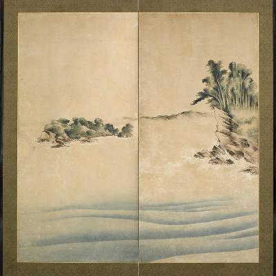 Mount Fuji and Enoshima, Edo Period, C.1825-Katsushika Hokusai-Giclee Print