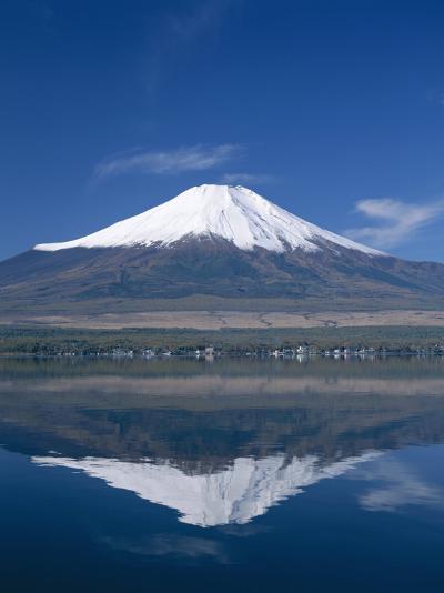 Mount Fuji and Lake Yamanaka, Honshu, Japan--Photographic Print
