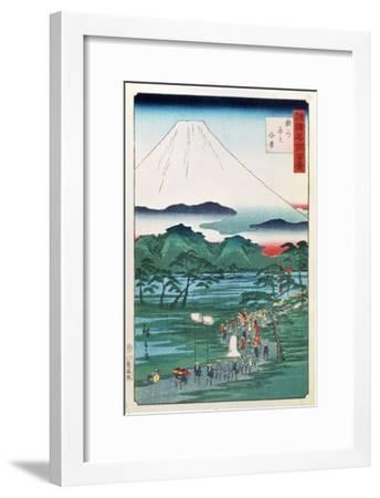 Mount Fuji from the Province of Hara in Suruga, 1860--Framed Giclee Print